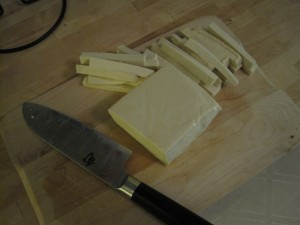 Cut up tofu